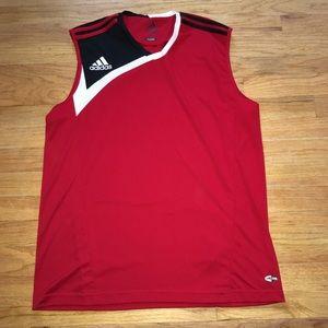 Adidas sleeveless red top (men's)